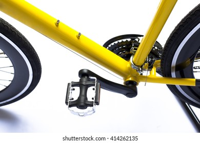 bicycle's pedal on a white background