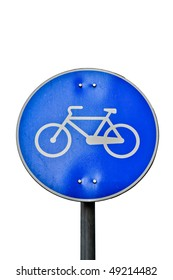 Bicycle's sign on white background