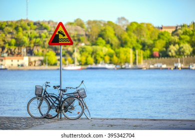 Bicycles at Stockholm Canal