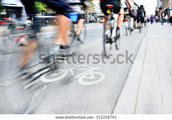 Bicyclists in traffic