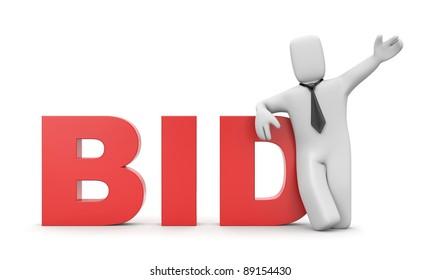 Bid. Business concept