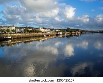 Bideford quayside in Devon,England in the morning sunshine