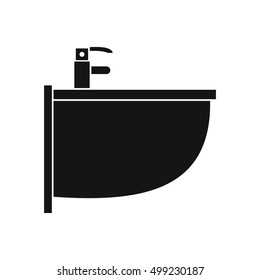 Bidet icon in simple style on a white background  illustration