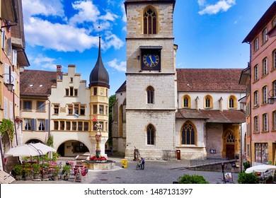 Biel/Bienne, Switzerland, 2019.08.02. - In the old town of Biel/Bienne