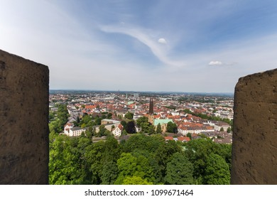bielefeld cityscape germany from above