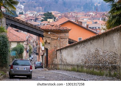 Biella, the higher part of town, the Piazzo with the medieval streets