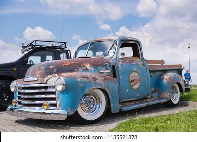 Bielsko-Biala, Poland - July 15, 2018: Chevrolet Thriftmaster, classic american pickup truck on Moto Show in Bielsko-Biala.