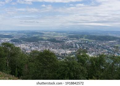 Bienne, Switzerland - August 14, 2019 - a walk through the jura peaks in Biel Bienne