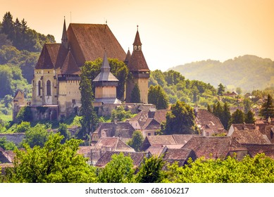Biertan, one of the most important Saxon villages with fortified church in Transylvania, Romania.