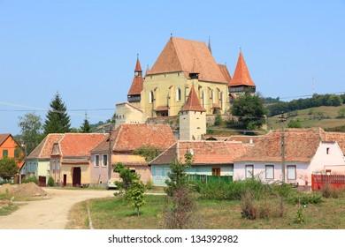 Biertan in Transylvania region of Romania. Fortified church of Saxon Transylvanians - UNESCO World Heritage Site.