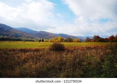 Wołosate - Bieszczady Mountains. Autumn moods