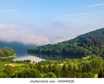 Bieszczady Mountains in the morning