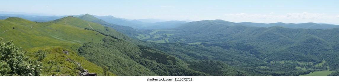 Bieszczady mountains, Poloniny mountains - panorama