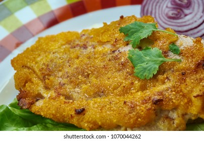 bife  milanesa - Veal Milanese,  Italian dish, a popular variety of cotoletta