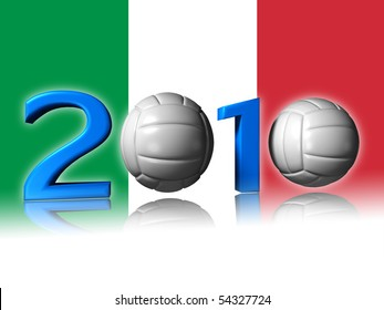 It's a big 2010 volley logo with italian flag in background