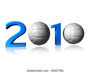 big 2010 volley logo on a white background