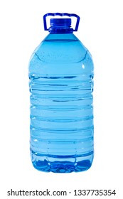 The big 5-liter bottle of water is isolated on a white background.