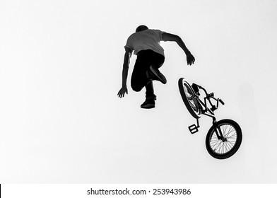 Big Air BMX falling, Lyon, France