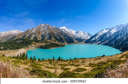 Big Almaty lake is a highland reservoir and natural landmark in Almaty, Kazakhstan.