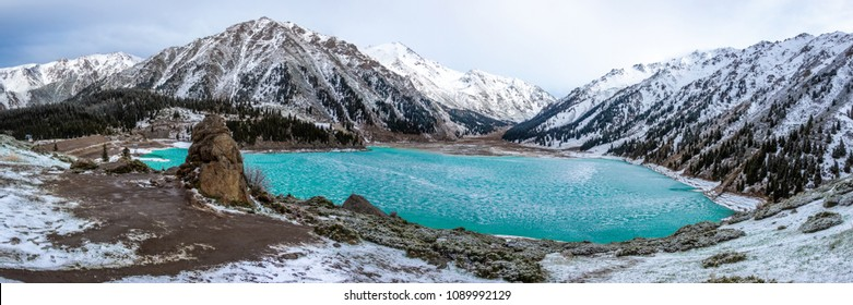 Big Almaty Lake ,Tien Shan mountains in Almaty, Kazakhstan