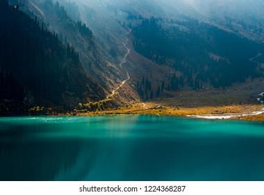 Big Almaty Lake ,Tien Shan Mountains in Almaty, Kazakhstan