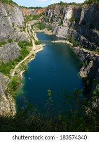 The Big America. Abandoned dolomite quarry is beautiful place in The Central Bohemia. Czech Republic