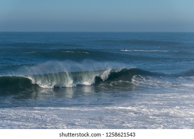 Big Atlanic waves at Nazare, Portugal.