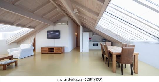 Big attic, nobody inside