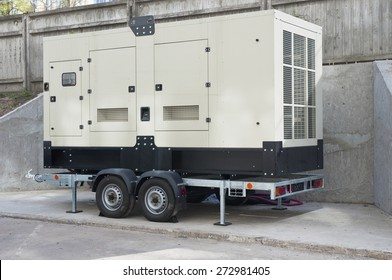 Big Backup Generator for Office Building