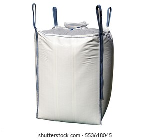 A big bag with blue stripes