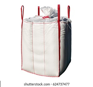 Big bag isolated on the white background