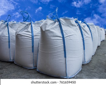 big bags on the outdoor warehouse.