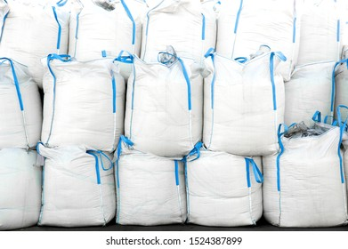 Big Bags soft container in stock on the terminal