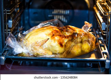 Big baked christmas turkey