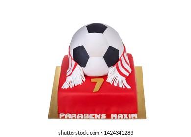 Big ball cake Benfica for a birthday boy.