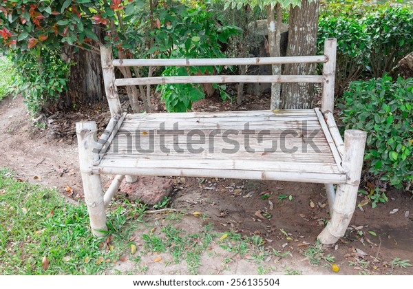 Admirable Big Bamboo Chair Green Park Stock Photo Edit Now 256135504 Download Free Architecture Designs Scobabritishbridgeorg