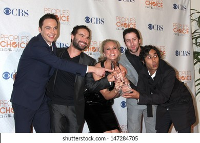 Big Bang Theory Cast in the Press Room at the 2010 People's Choice Awards Nokia Theater January 6, 2010