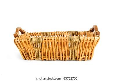 Big basket isolated on the white background