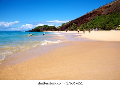 Big Beach at Makena State Park in Maui Hawaii