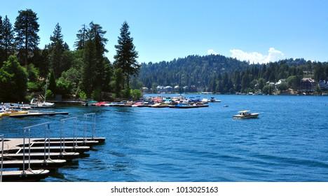 Big Bear Lake Camping Area, Southern California, USA