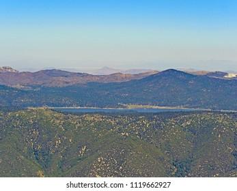 Big Bear Lake, from Forsee Creek Trail, San Bernardino Mountains, Southern California, June 2018