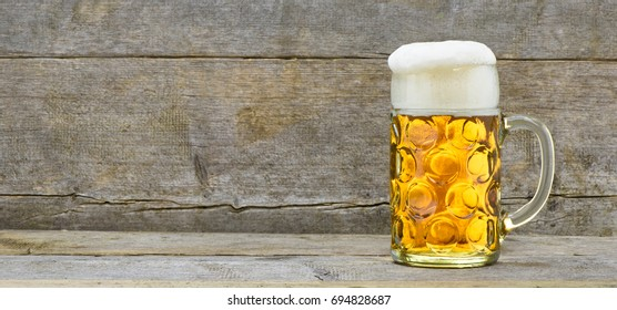 big beer mug at Oktoberfest in Munich, Bavaria