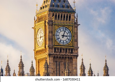 Big Ben clock at colorful blue sky, Landmark of London, UK