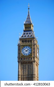 The Big Ben clock tower by day, London, United Kingdom