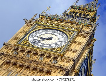 Big Ben clock tower or Elizabeth Tower near Westminster Palace and Houses of Parliament in London England has become a symbol of England and Brexit discussions
