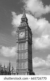 Big Ben clock tower, also known as Elizabeth Tower near Westminster Palace and Houses of Parliament in London England has become a symbol of England and Brexit discussions
