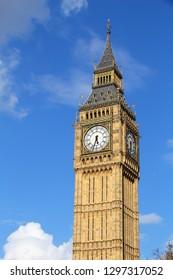 Big Ben clock tower - landmark of London, UK.