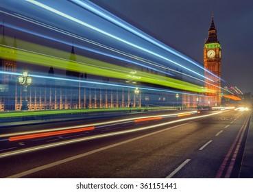 Big Ben clock tower at London England UK