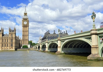 Big Ben clock tower on the River Thames, near Westminster Palace and Houses of Parliament in London England has become a symbol of England and Brexit discussions