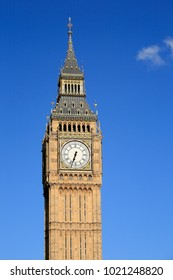 The big Ben clock tower of the Palace of Westminster